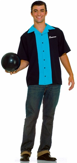 "50s Bowling Costume Shirt ""The Kingpins"""