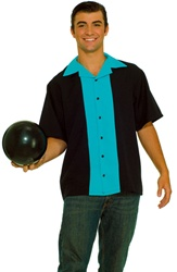 Plus Size Bowling Shirt Adult Costume