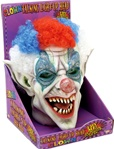 Scary Clown Talking Light-Up Head - Accessory