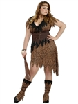 Plus Size Cave Girl Adult Costume