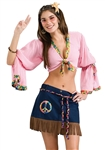 Sexy Hippie Chickie Girl Costume - Adult