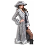 Silver Ladies Pimpette Costume - Ladies Night Out
