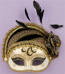 Gold and Black Masquerade Adult Mask