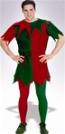 Adult Red and Green Christmas Tights