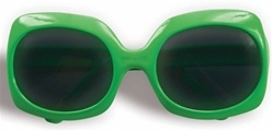 1980s Jumbo Neon Green Glasses