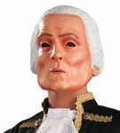 Adult George Washington Latex Mask