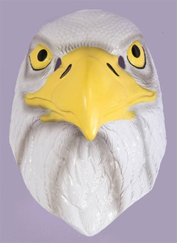 Kids Sized American Eagle Plastic Mask