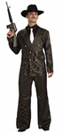 Gangster Gold Pin Striped Costume - Adult Sized