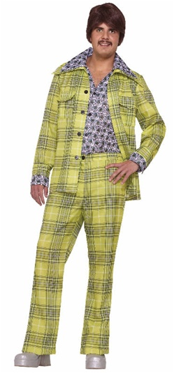 70s Plaid Leisure Suit Costume