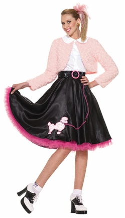 Fifties Sweetheart Costume with Poodle Skirt