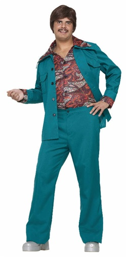 70s Blue/Green Leisure Suit