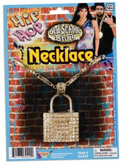 Hip Hop Bling Lock Necklace Accessory