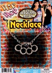 Old School Hip Hop Bling Knuckles Necklace