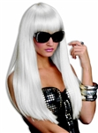 Long White Gaga Wig