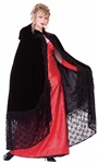 Black Victorian Cape - Adult Sized