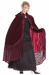 Burgundy Victorian Cape - Adult Sized