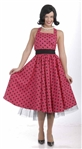 1950's Housewife Cutie Costume - Red and Black