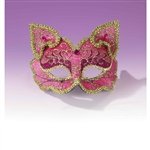 Fancy Cat Half Mask - Adult