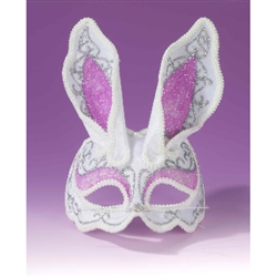 Fancy Bunny Adult Sized Half Mask