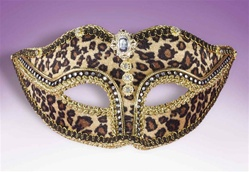 Meow! Indeed. In our leopard Mardi Gras eyemask.