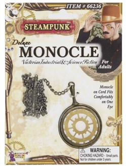 Deluxe Steampunk Monocle with Gear Detail
