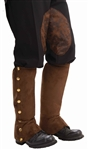 Brown Suede Steampunk Spats - Adult