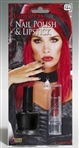 Vampiress Black Nail Polish and Red Lipstick Kit