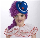 Blue Mini Clown Hat