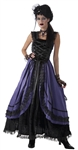 Women's Gothic Purple Poison Dress