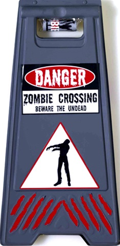 Zombie Crossing Sign and Tape