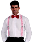 Candy Cane Christmas Suspenders
