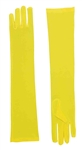 Long Yellow Nylon Gloves - Adult
