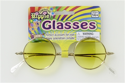 Round Yellow Hippie Glasses