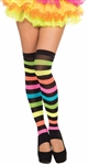 Rainbow Striped Footless Thigh Highs