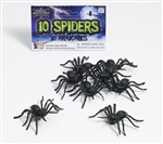 Scary Fake Spiders - Pack of Ten