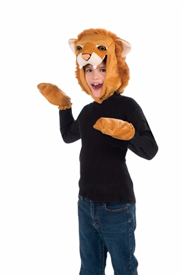 Child Lion Hood and Gloves Kit