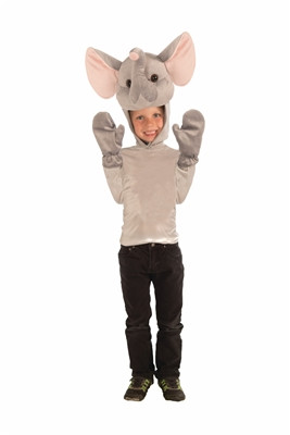 Child Elephant Hood and Gloves Kit