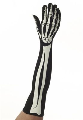 Long Skeleton Bone Gloves