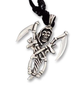 Grim Reaper with Sickle Costume Necklace