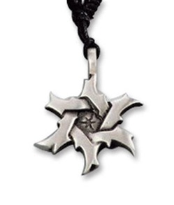 Gothic Sawblade Star Costume Necklace