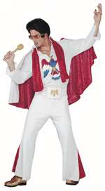 Deluxe White Elvis Presley Adult Costume