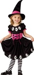 Skull Witch Toddler Girls Costume