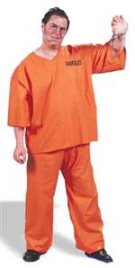 Adult Plus Sized Got Busted! Mens Costume