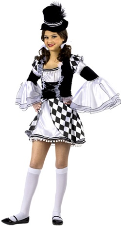 Tween Girl's Harlequin Costume