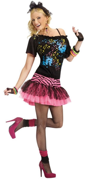 80's Adult Pop Party Costume - Halloween