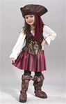 Toddler High Seas Pirate Girls Costume