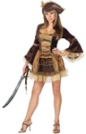 Womens Sexy Sassy Victorian Pirate Costume