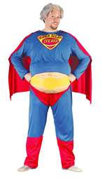 Mens Super Size American Hero Costume