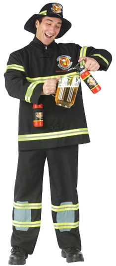 Fireman with Beer Extinguisher - Adult Costume
