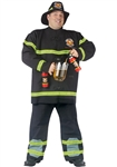 Big and Tall Filler Up Fireman Costume - Firefighter